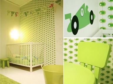 bebe-decoracion verde
