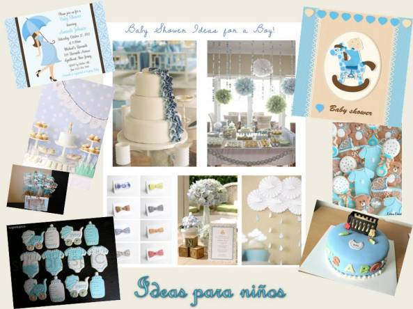 ideas baby shower niños