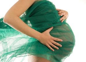 embarazada-paño-verde